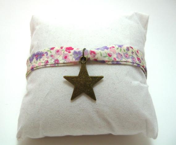bracelet liberty avec breloque étoile