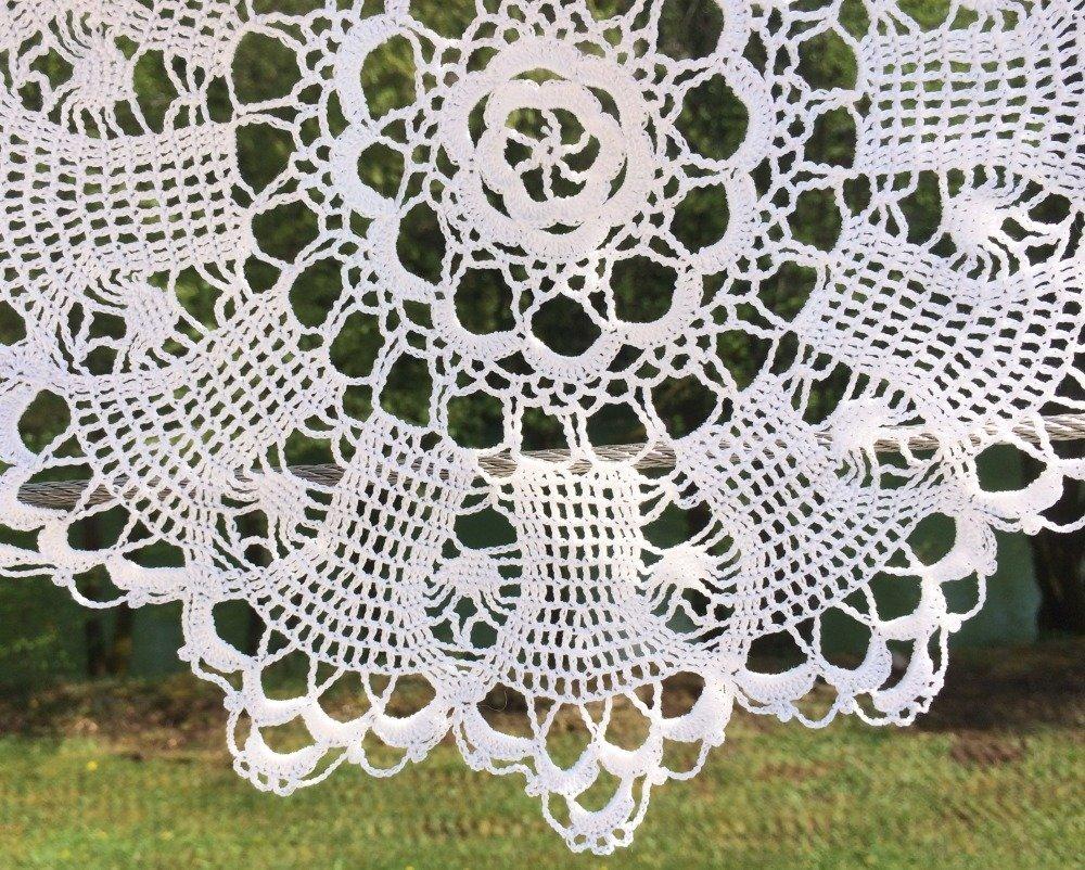 napperon crochet blanc 35 cm