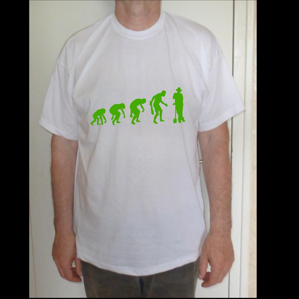 T-shirt coton jardinier evolution theory vert pour homme  s-xxl