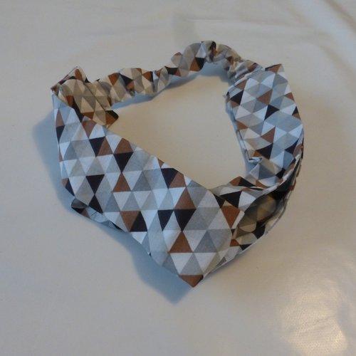 Bandeau triangles marrons coton femme