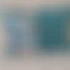 Coussin rectangle bleu turquoise
