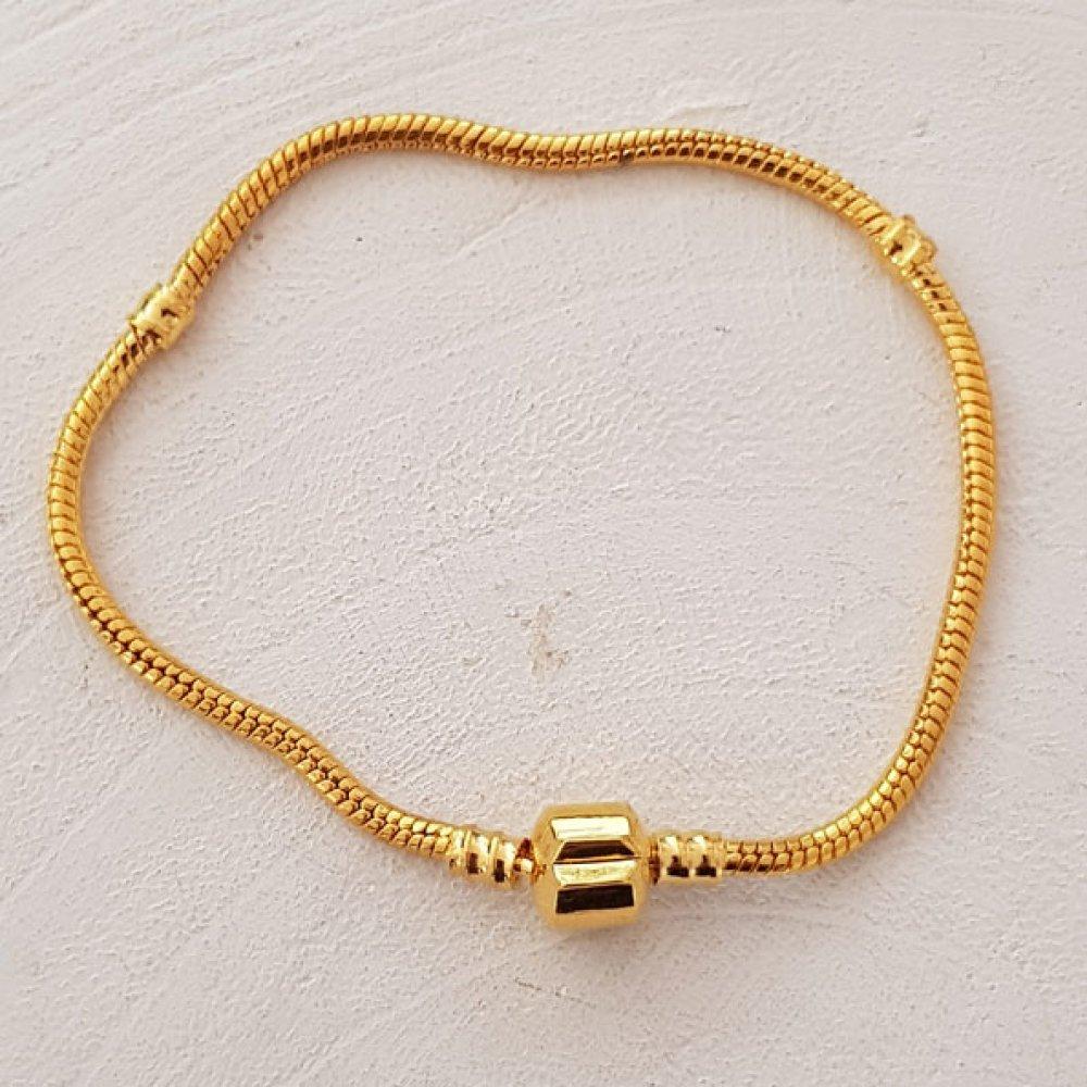Bracelet clip style pandora doré