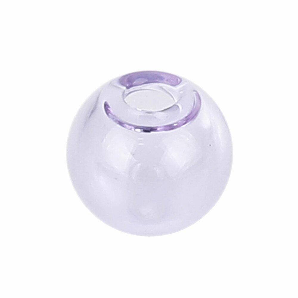 1 Boule en verre ronde de 16mm Violet