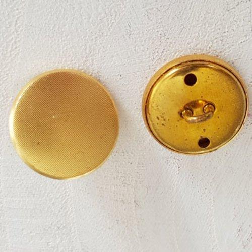 Bouton doré n°03 de 18 mm rond