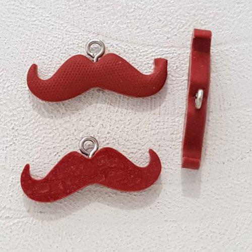 Breloque pendentif moustache n°03 marron foncé