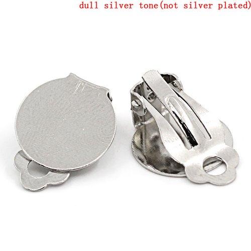 10 supports boucles d'oreilles clips plateau n°01 x 5 paires
