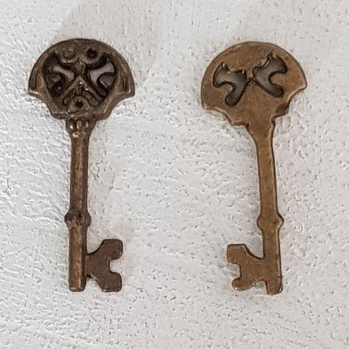 Breloque clef n°16 bronze