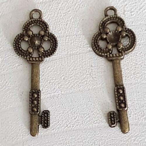 Breloque clef n°20 bronze