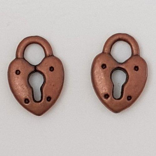 Breloque cadenas serrure n°12 cuivre
