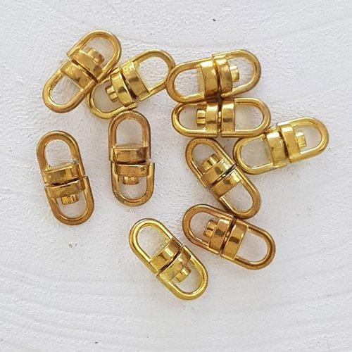 Portes-clé rotatif doré