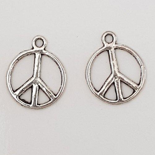 Breloque peace & love n°07 argent