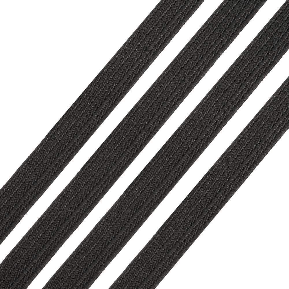 Élastique masque plat 5 mm Noir x 7 Mètres