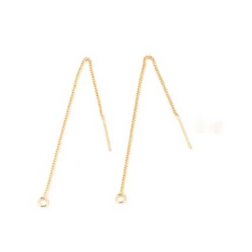 Support boucle d'oreille n°27-02 chaine plaqué or 18k