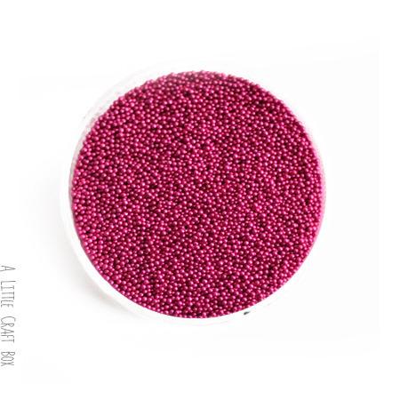 Micro bille en verre pr miniature 10g - fushia
