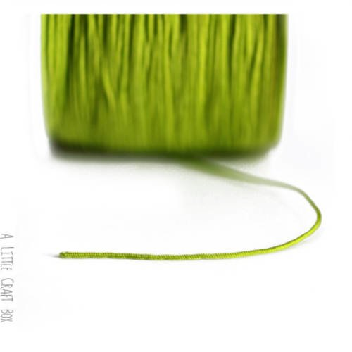 5m de fil en nylon 1mm  -  vert pomme