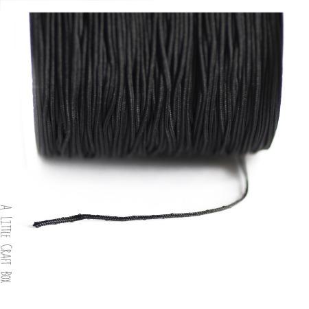 5m de fil en nylon 1mm  -  noir