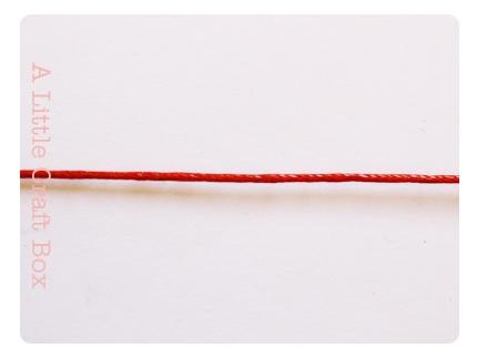 5m de coton ciré 1mm - coloris rouge
