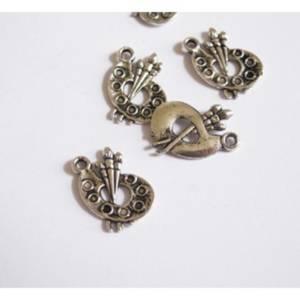 création bijoux SC15819 10 Breloques Charm Bronze Noeud 26x25mm