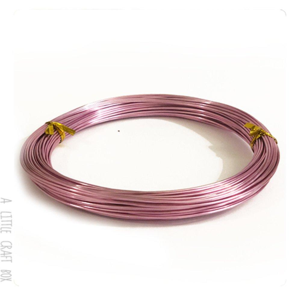 [gros lot] 20m de fil en aluminium 1mm coloris  mauve