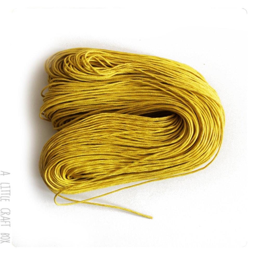 [GROS LOT] 80m de coton ciré 1mm - jaune