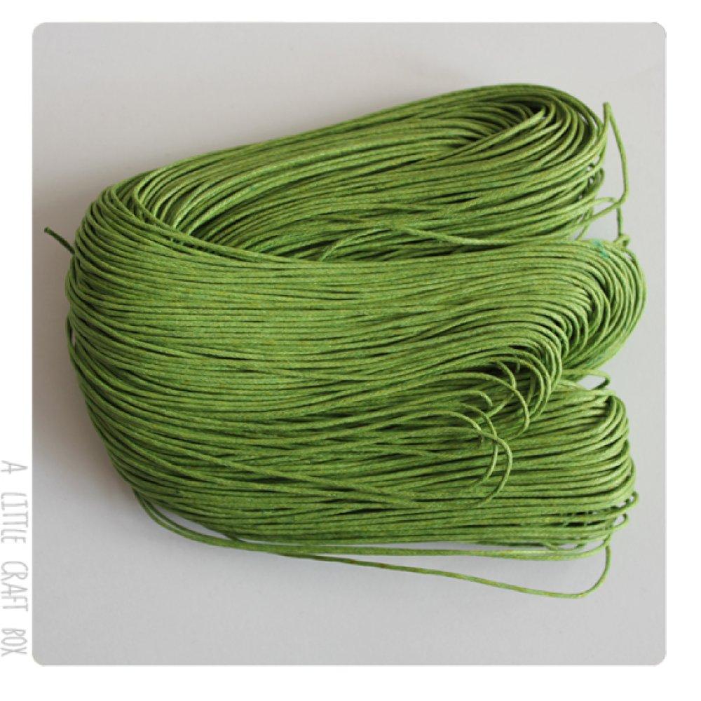 [GROS LOT] 80m de coton ciré 1mm - vert