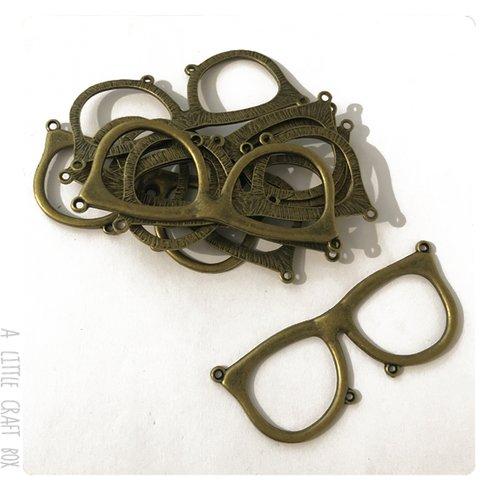 [gros lot] 10 pendentifs  lunette  coloris bronze