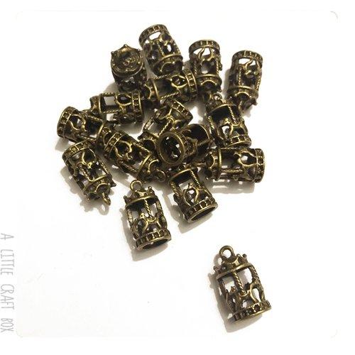 [gros lot] 10 breloque caroussel manège coloris bronze