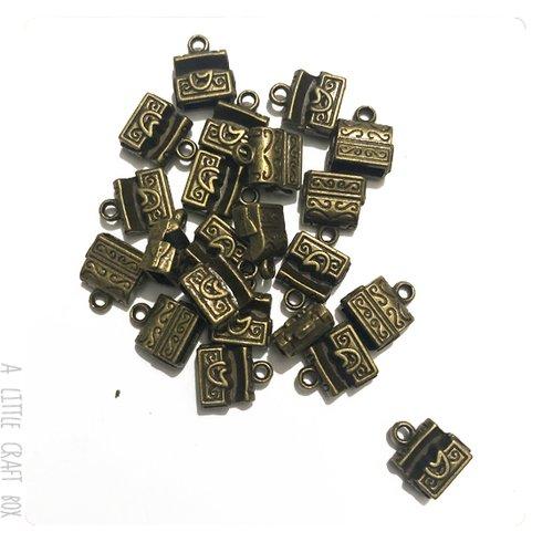 [gros lot] 20 breloques coffre  au trésor coloris bronze