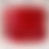 Lanière cuir plat 5 mm rouge de grande qualité européenne vendu par mètre