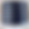 Lanière cuir plat 5 mm bleu marine de grande qualité européenne vendu par mètre