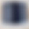 Lanière cuir plat 5 mm bleu marine de grande qualité européenne vendue par 50 cm