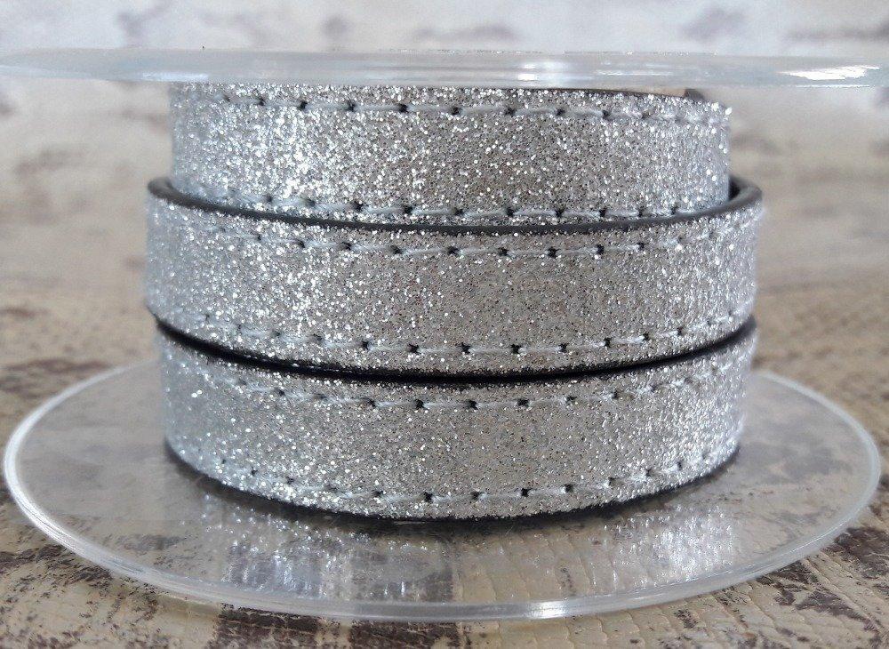 lanière PROMO plat 12 mm effet paillette vendu au centimètre