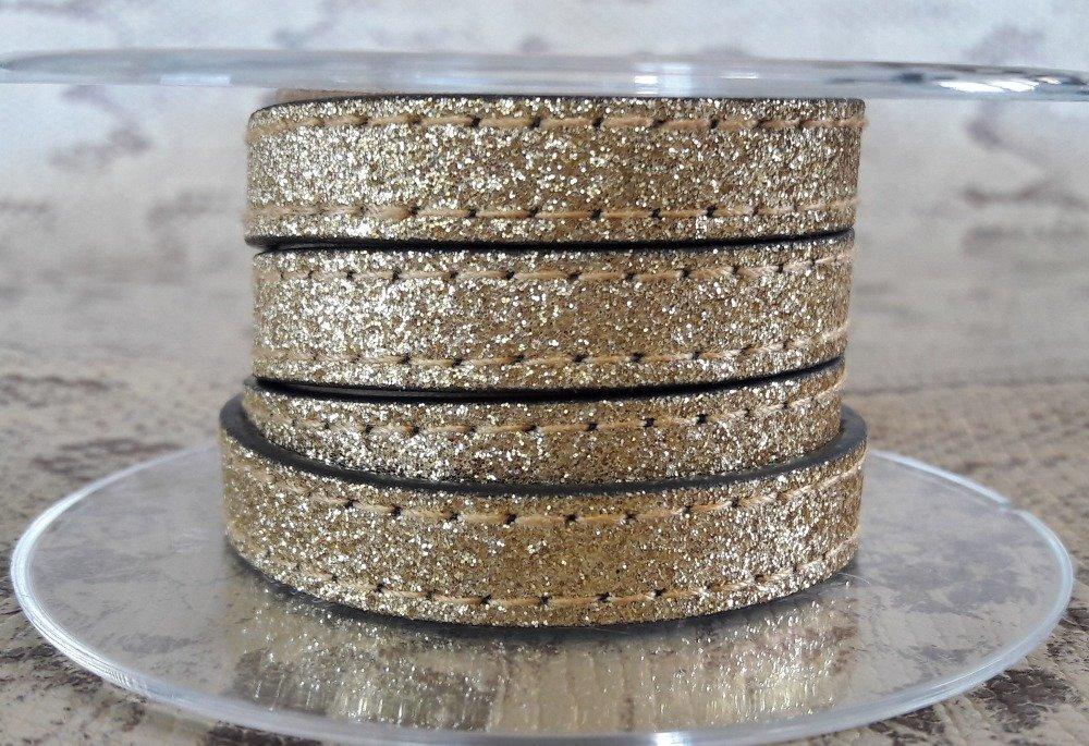 lanière PROMO plat 10 mm effet paillette vendu au centimètre