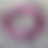 Fermoir aimanté violet pour cordon rond 3 mm