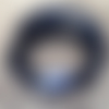 Fermoir aimanté bleu pour cordon rond 3 mm