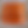 Lanière cuir plat 5 mm orange de grande qualité européenne vendue par 50 cm