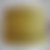 Lanière cuir plat 5 mm imprimé pois jaune de grande qualité européenne vendue au mètre