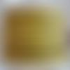 Lanière cuir plat 5 mm imprimé pois jaune de grande qualité européenne vendue par 50 cm