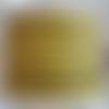 Lanière cuir plat 5 mm imprimé pois jaune de grande qualité européenne vendue au centimètre