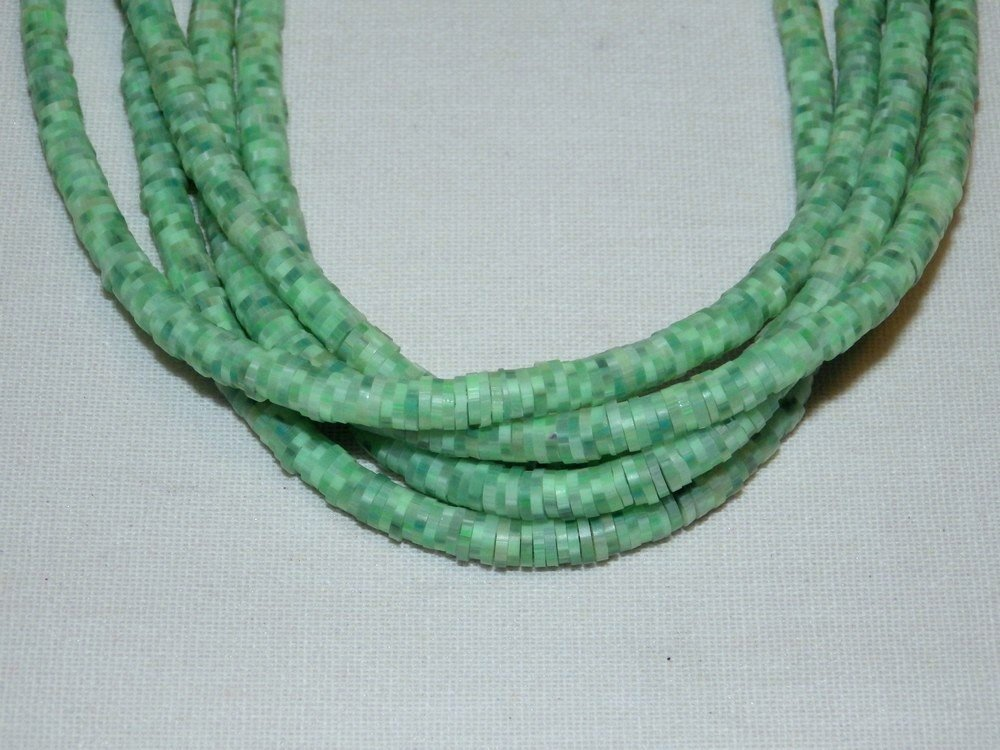 Collier rondelles heishi polymère