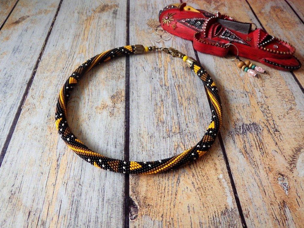 """""""BOGOLAN"""" collier au crochet"""