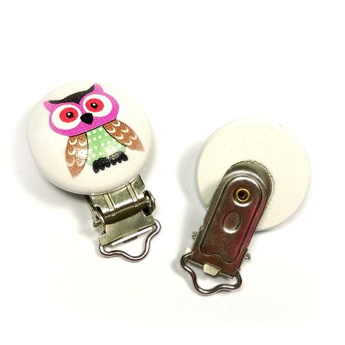 1 pince clip attache tétine hibou