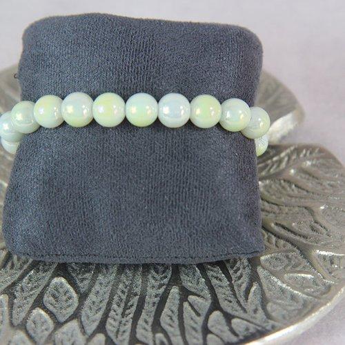 Bracelet perle jaune pâle