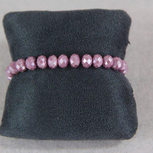Bracelet perle rose foncé