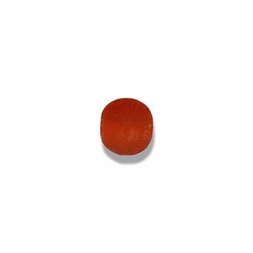 Perles en verre artisanal indien mandarine dimensions :  7mm,lot de 10