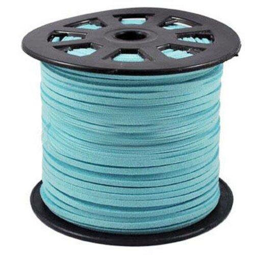 Cordon suédine turquoise 3mm,vendu par 1 m