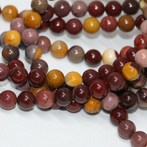 Perle de jaspe mookaite australien,10mm,lot de 10 pcs