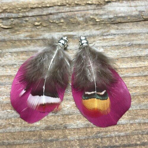 Plume exotique environ 6 cm vendu par paire