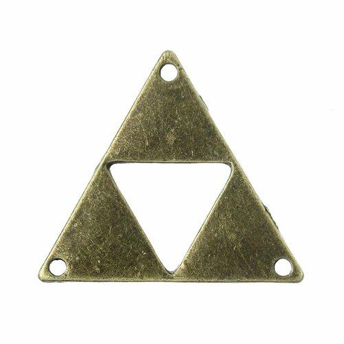 Pendentif en alliage de zinc losange bronze antique 3.0cm x 26.0mm, 4 pcs