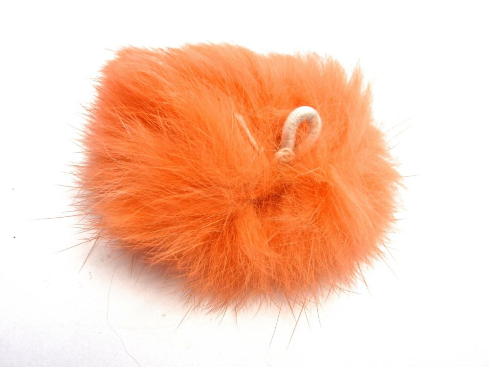 Boule de peluche corail, avec boucle élastique dimensions 60mm